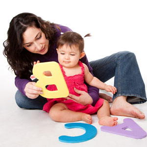 Playing games with your one year old child