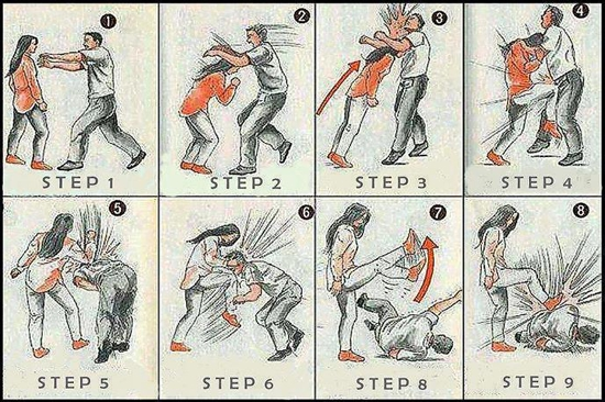 Follow these self defense techniques and share with others. It could save someone's life!