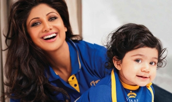 Shilpa Shetty with Viaan