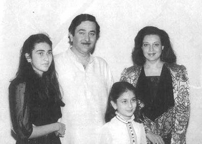 Randhir Kapoor and Family