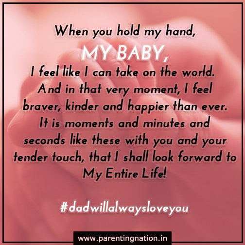And when you hold his hand...