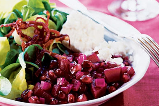Pomegranate and Beet Salad